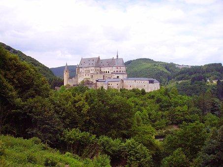 Castle, Vianden, Luxembourg, Border Region