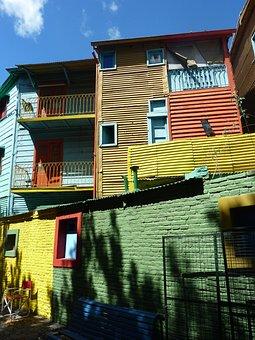 Buenos Aires, La Boca, Argentina, Colorful, Homes