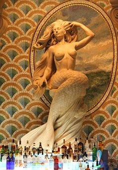 Mermaid, Bar, Unique Bar, Architecture, Creature