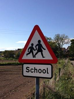 School, Sign, Crossing, Education, Symbol, Icon, Child