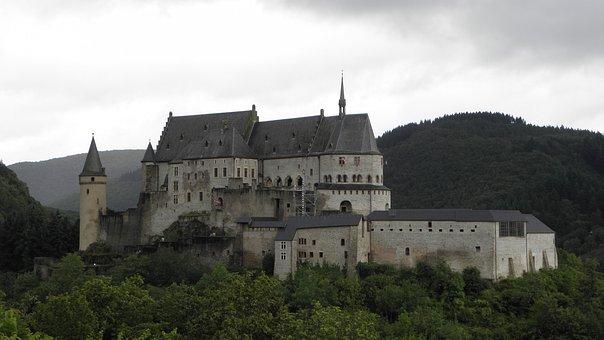 Castle, Vianden, Luxembourg, Landmark, Culture, Old