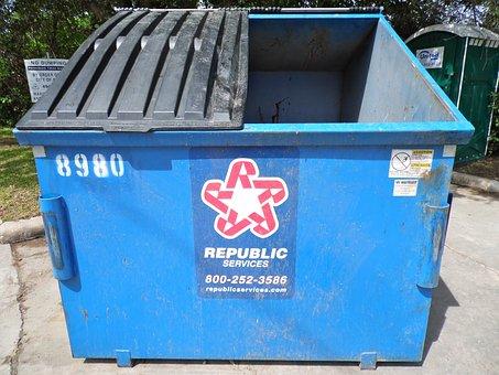 Dumpster, Trash Bin, Garbage, Trashcan, Container