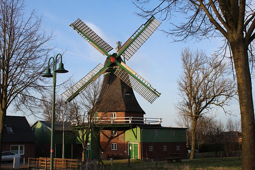 Windmill, Mill, God With Us, Eddelak, Dutch Windmill