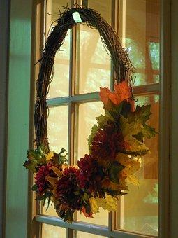 Wreath, Door, Decoration, Season, Holiday, Ornament
