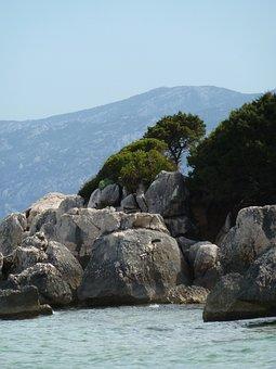 Rocks, Blue, Sea, Sardinia, Italy, Rock, Travel, Water
