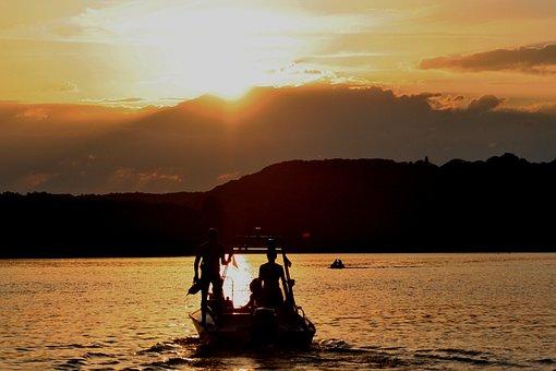 Dlrg, Sun, Setting, Sunset, Boot, Lifeboat, Sky, Mood