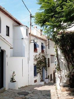 Street, Houses, White, People, Sailor, Mediterranean