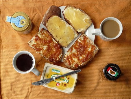 Breakfast, Coffee, Eat, Morning, Honey, Honey Bread
