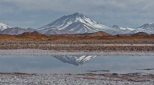 Aracar, Mountain, Stratovolcano, Andes, Salt Flat