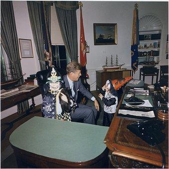President John F Kennedy, White House, Oval Office