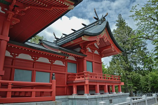 Fujimi, Japan, Shrine, Temple, Faith, Religion, Sky
