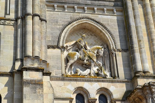 Bordeaux, Saint-georges, Facade, Church, High Relief