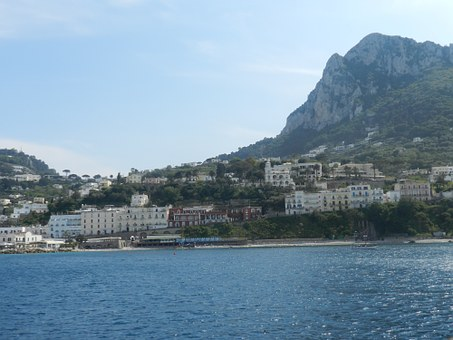 Capri, Italy, Med, Mediterranean, Seascape, Coastline