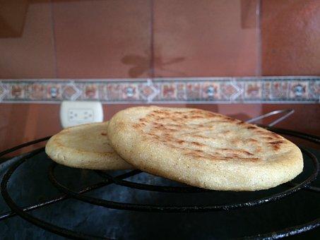 Arepa, Arepas, Breakfast, Venezuela, Corn, Kitchen