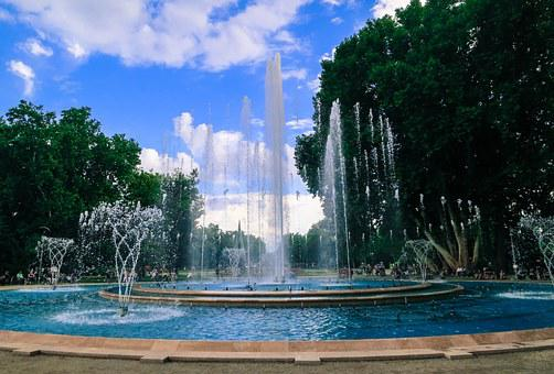 Fountain, Water, Splash, Summer, Blue, Wet, Park