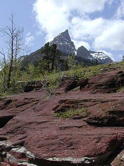 Waterton Provincial Park, Alberta, Canada, Red Cliffs