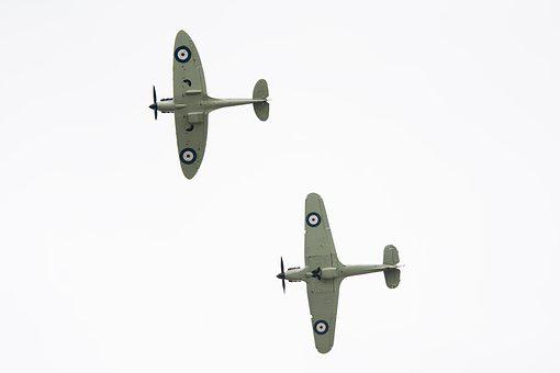 Spitfire, Mustang, Aircraft, Airplane, Britain