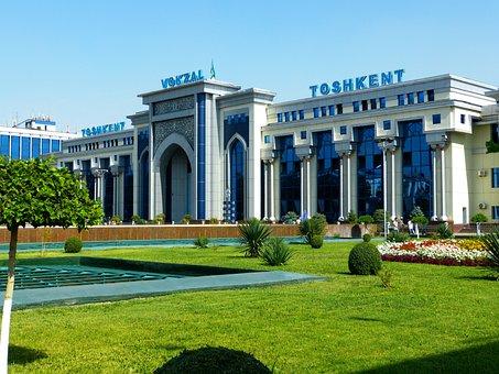 Railway Station, Tashkent, Uzbekistan, Arrive, Depart