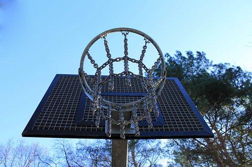 Basketball Hoop, Basketball, Streetball Basket, Metal
