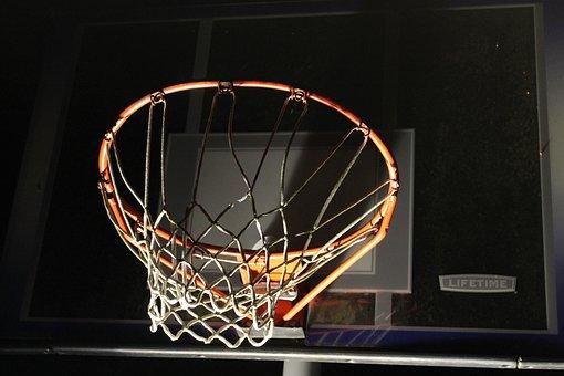 Basketball, Sport, Sports, Orange, Game, Hoop, Night