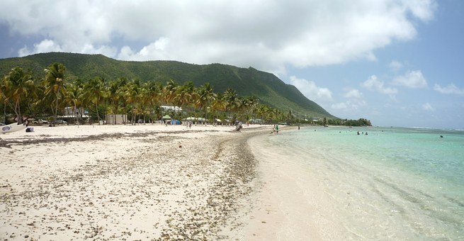 The Désirade, West Indies, Guadeloupe, Beach, Sand