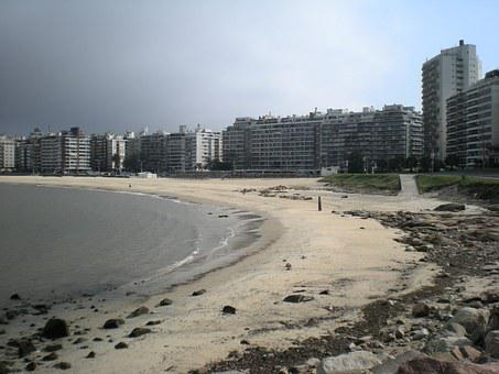 Rambla, Beach, Montevideo, Uruguay