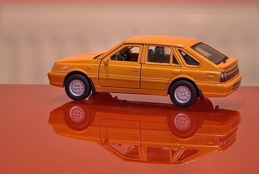 Model, Polonaise, Car, Automatic, Orange