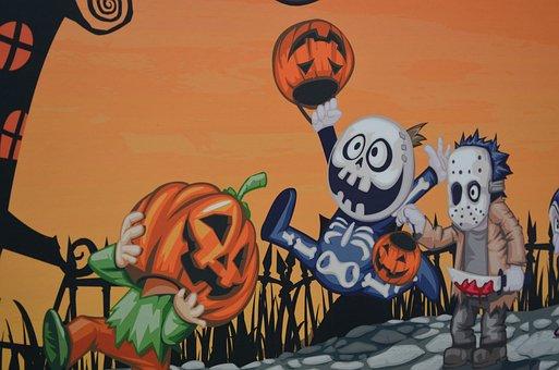 Halloween, Pumpkin, Decoration, Characters, Celebration