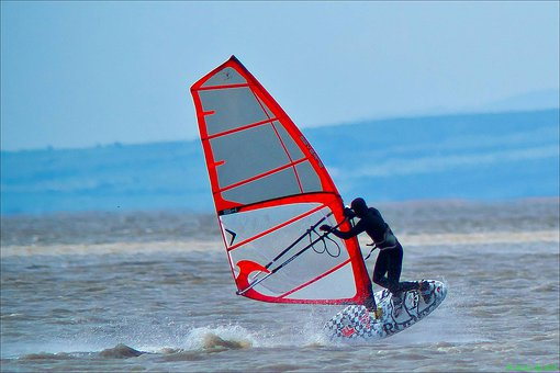 Windsurfing, Water Sports, Wind, Sea, Cold, Wet