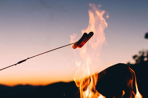Backlit, Bonfire, Dawn, Dusk, Fire, Flame, Heat
