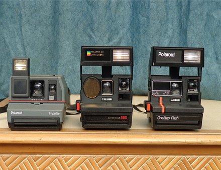 Polaroid, Camera, Vintage, Photography, Flash, Antique