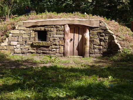House, Park, Green, Natural, Wildlife Shelter, Drystone