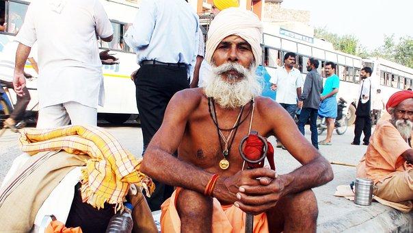 Sadhu, Indian Street, India, Indian, Holy Man