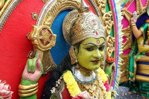 Art, Culture, Indian Art, Yellow, Face, Artist, Make Up