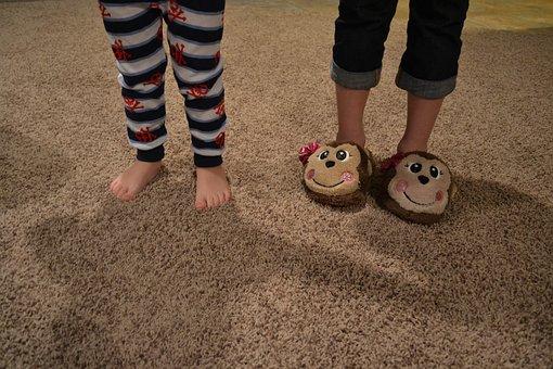 Feet, Toes, Slippers, Kids, Children, Pajamas, Pjs, Boy