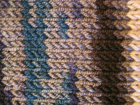 Pure New Wool, Knit, Knitwear, Background, Structure
