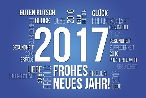 Silvester2017, New Year's Day, New Year, New Year 2017