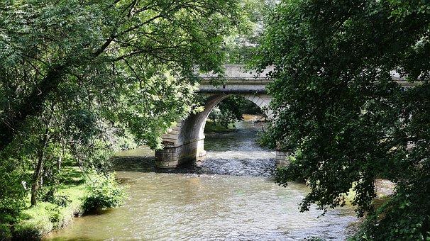 Bridge, River, Water, Cross, France, Passage, Bridges