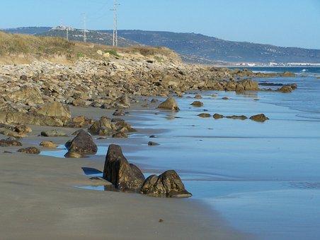 Shore, Beach, Costa, Rocks, Sea, Blue, The Botero Beach