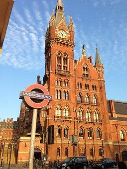 London, Underground, Railway Station, St Pancras