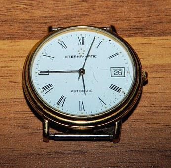 Clock, Swiss Watch, Eterna-matic, Automatic, Time