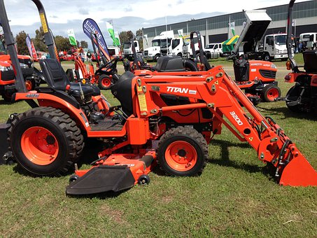 Tractor, Post Hole Digger, Tractor Mower, Equipment