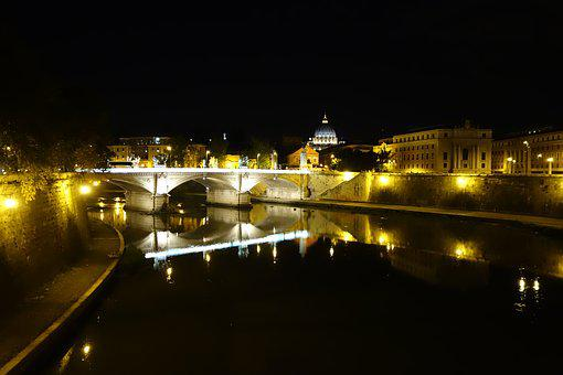 City Tour, Rome, Vacation Trip, By Night