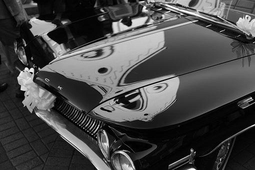 Buick, Automatic, Retro, Vintage, Bridal Car, Black