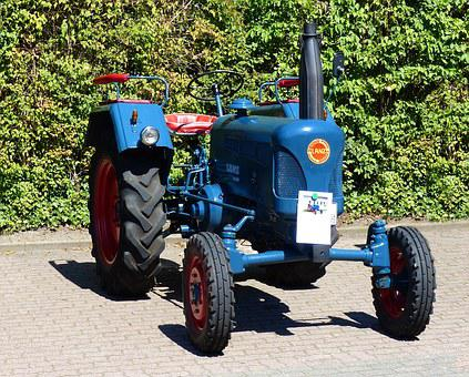 Tractors, Tractor, Oldtimer, Agriculture, Lanz