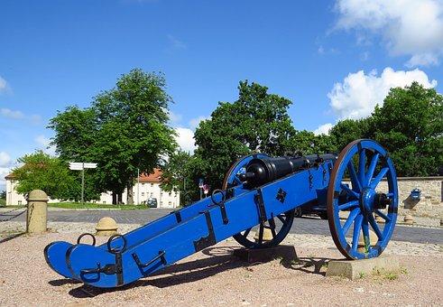 Gun, Citadel Erfurt, Blue, Antique