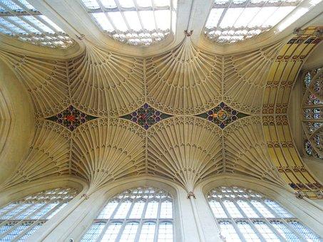 Bath, England, Cathedrals, Gothic, Bath Abbey
