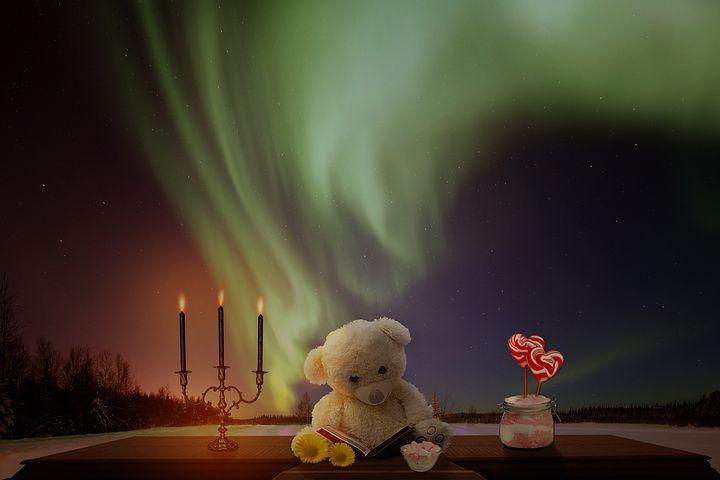 Teddy, Teddy Bear, Bear, Bears, Candlestick, Candy
