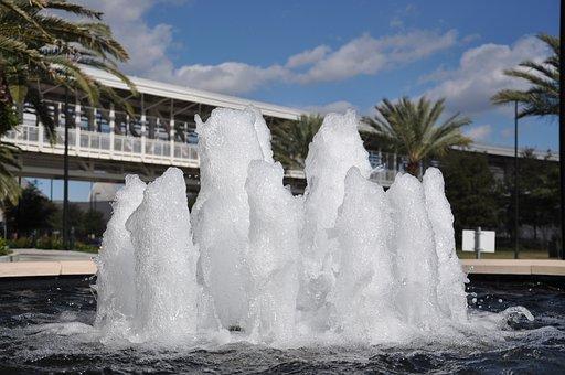 Fountain, Splash, Bowl Pool