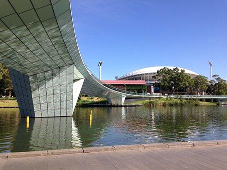 Bridge, Architecture, Adelaide Oval Footbridge